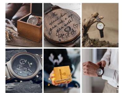 Дерев'яні наручні годинники