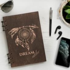 Блокнот з дерева Dreamcatcher