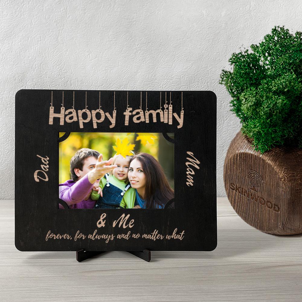 Фоторамка из дерева с гравировкой Family2