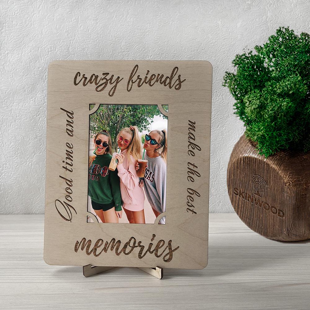 Фоторамка из дерева с гравировкой Friends 2