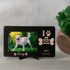 Дерев'яна фоторамка з гравіюванням My Dog