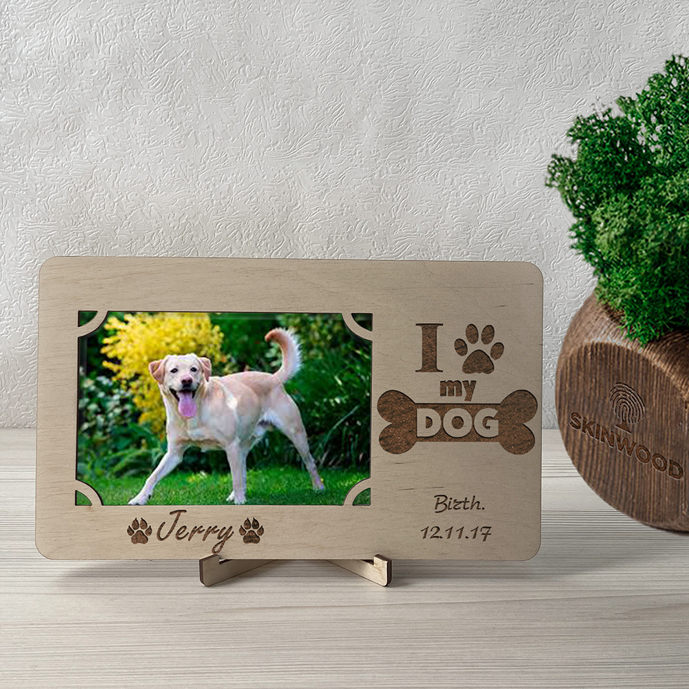 Фоторамка из дерева с гравировкой My Dog