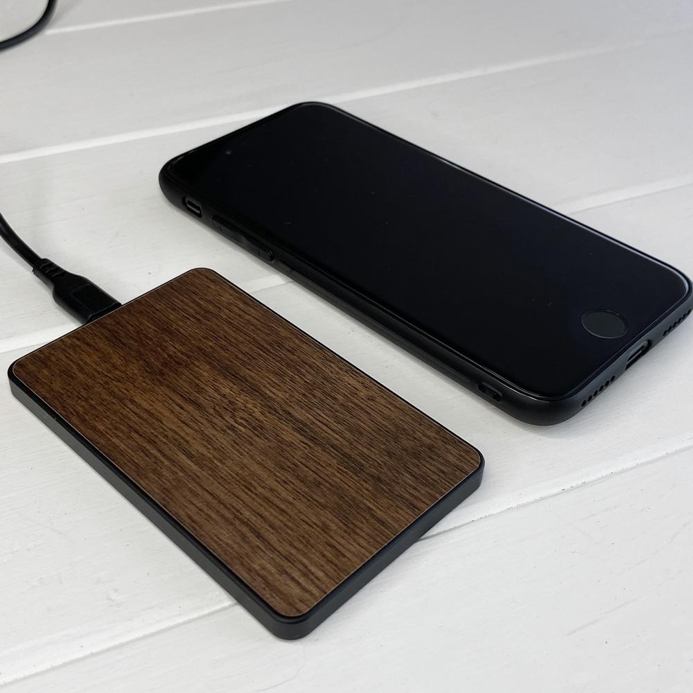 Бездротова зарядка SkinWood Black Fast Charger 15W