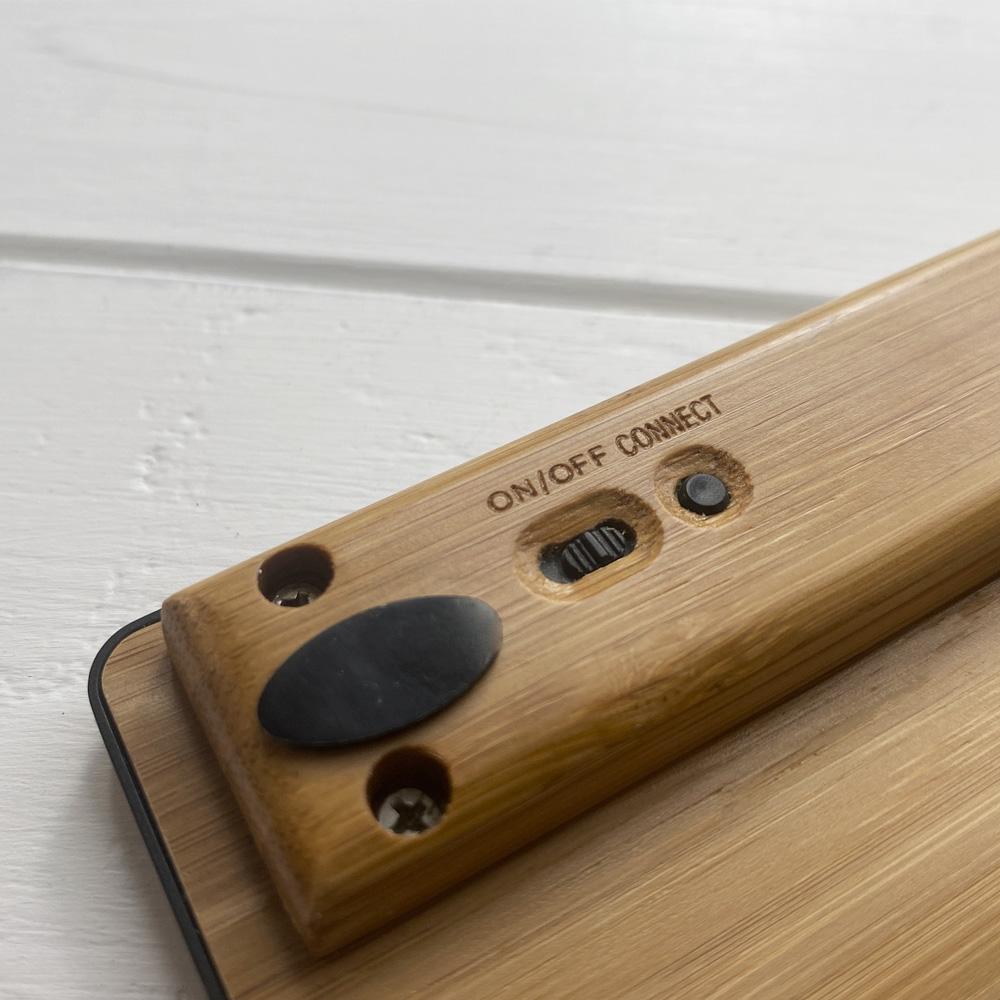 Дерев'яна бездротова клавіатура Slim Keyboard Wood