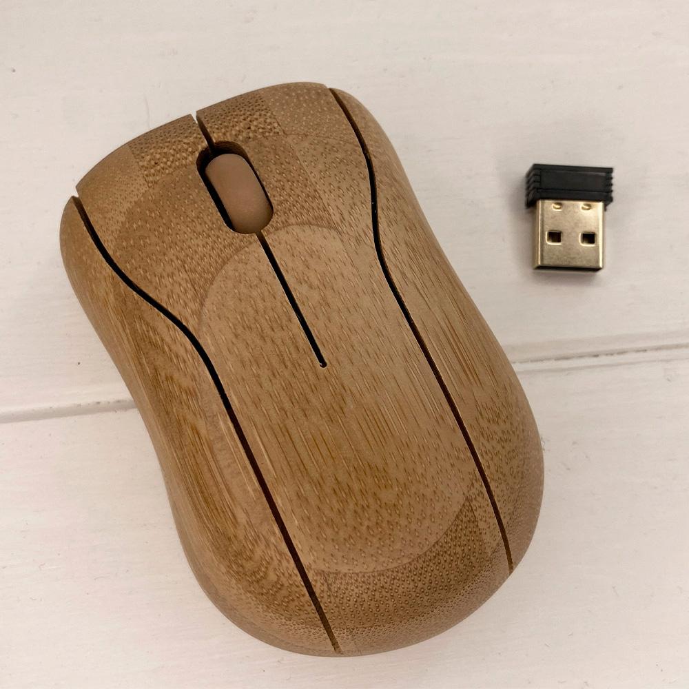 Дерев'яна бездротова мишка SkinWood Mouse