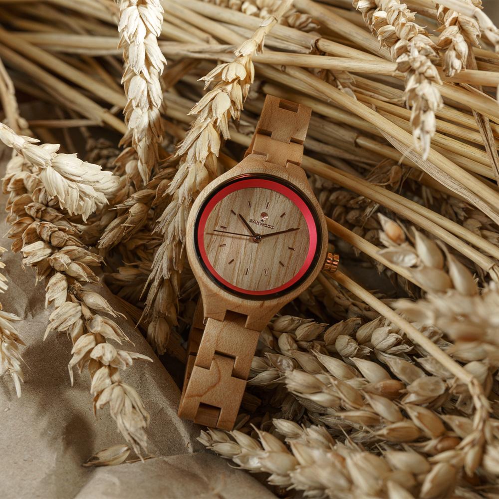 Наручний годинник з дерева Rose