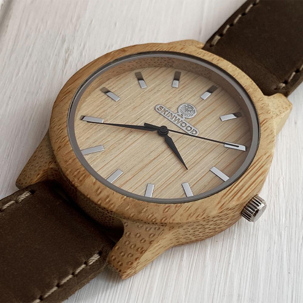 Наручний годинник з дерева SkinWood White New