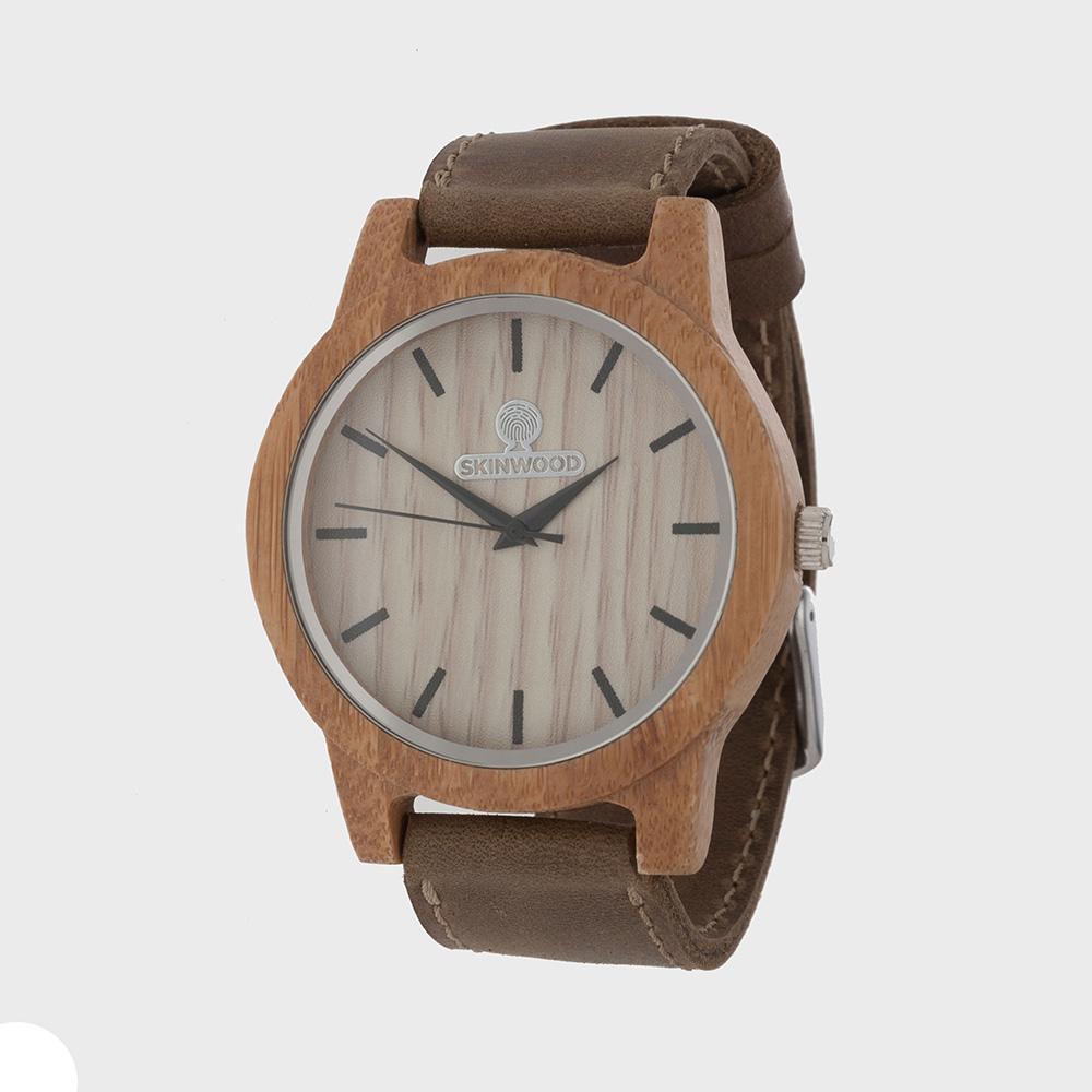 Наручний годинник з дерева SkinWood White