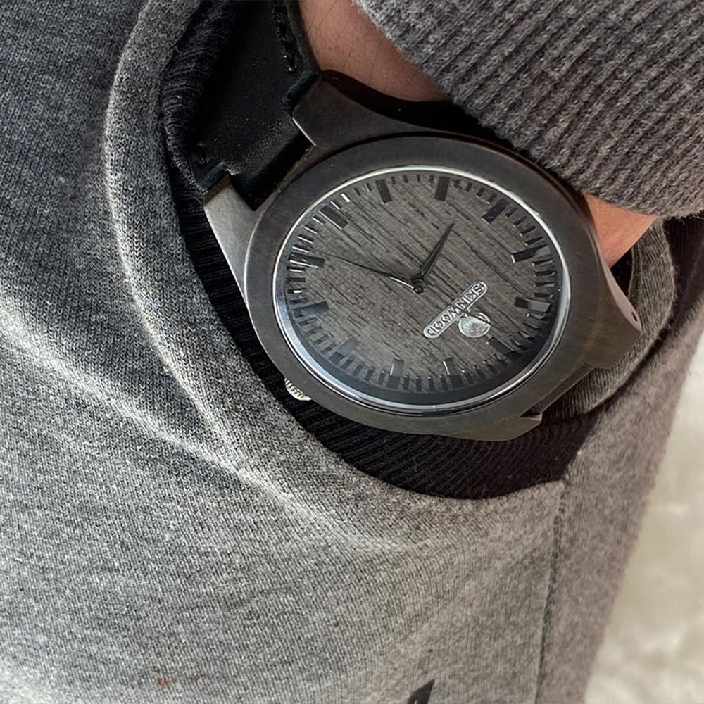 Наручний годинник з дерева Skinwood Black
