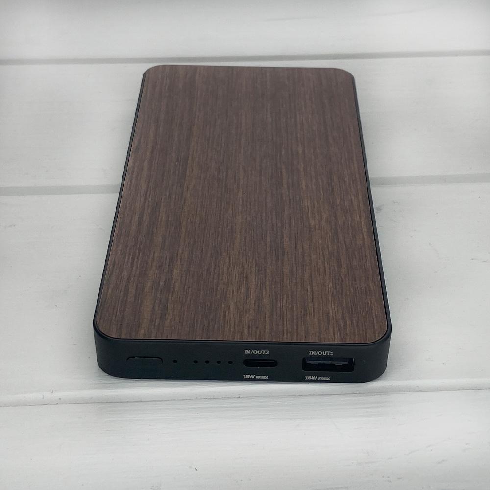 Powerbank з дерева SkinWood Black Qi 10000 mAh